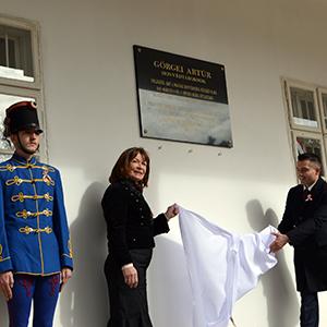 Emléktáblát avattak Görgei Artúr tiszteletére Tiszafüreden